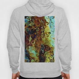 Colorful Wood Spirals Background #Abstract #Nature Hoody