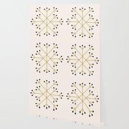 Mod Snowflake Olive Wallpaper