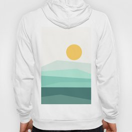 Abstract Landscape 09 Ice Blue Hoody