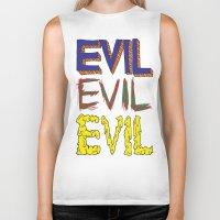 evil Biker Tanks featuring Evil by Michael Interrante
