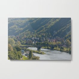 Moselle River and Trier Metal Print