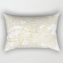 Ankara Map Gold Rectangular Pillow