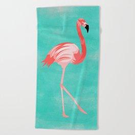 Flamingo Bird Beach Towel