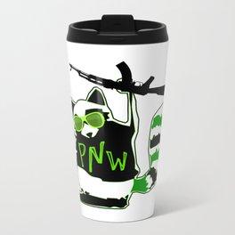 PNW Rebel Raccoon AK47 Metal Travel Mug