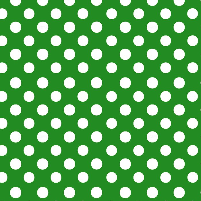 Polka Dots (White/Forest Green) Leggings