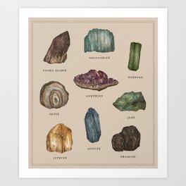 Gems and Minerals Art Print