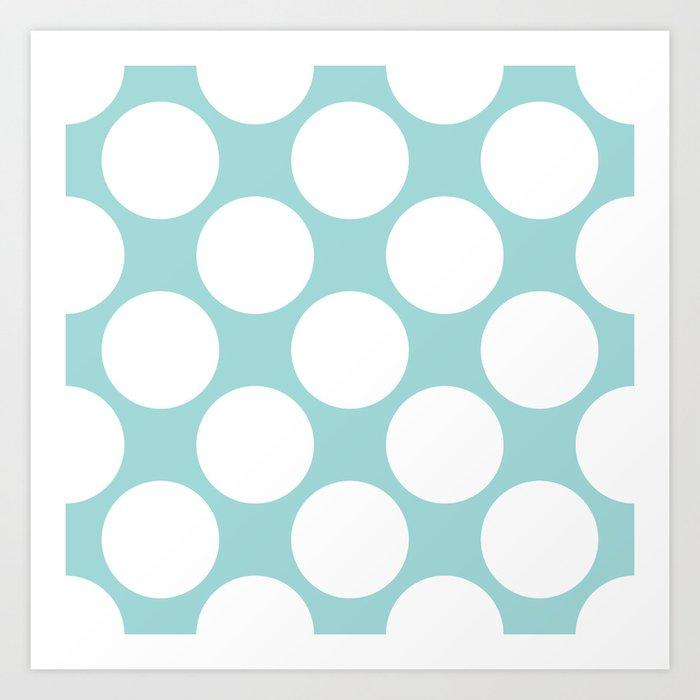 Polka Dots Blue Art Print
