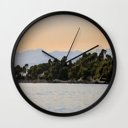 Evening Beckons Over The Lerins Islands Wall Clock