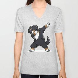 Funny Bernese Mountain Dog Dabbing Unisex V-Neck