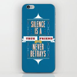 Silence Is iPhone Skin