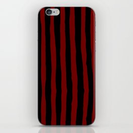 Black and Red Stripes iPhone Skin