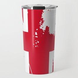 United Kingdom: Distressed Union Jack Flag Travel Mug