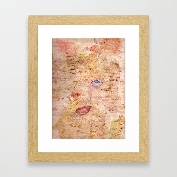 coffee eye Framed Art Print