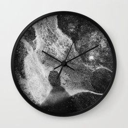 Lost in the White Galactic Radiance Wall Clock