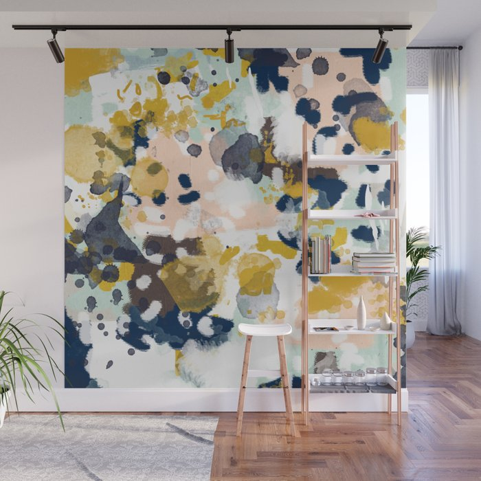 Sloane Abstract Painting Gender Neutral Baby Nursery Dorm College Decor Wall Mural By Charlottewinter