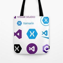 9 developers stickers in 1 visual studio code xamarin Tote Bag