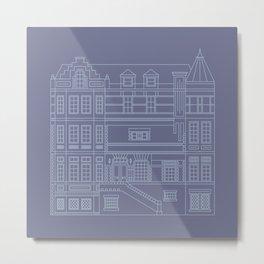 Very Royal - Blueprint Metal Print
