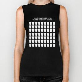 Drink Count Bachelor Party T-shirt/Tank Top Biker Tank