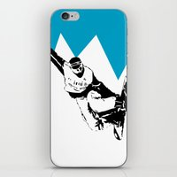 snowboarding iPhone & iPod Skins featuring Snowboarding Design by Cwilwol