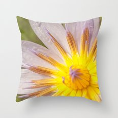 Mauve and yellow lily Throw Pillow
