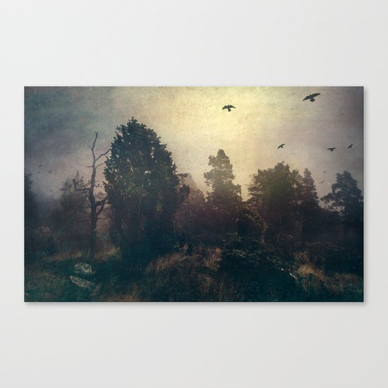 Home is where the fog is Canvas Print