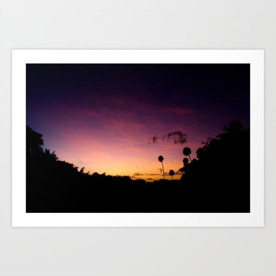 Beautiful Multi Colored Sunset Art Print