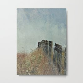 Fence on the Hill Metal Print