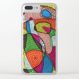 Playful Meditation 8 Clear iPhone Case
