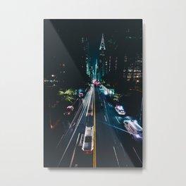 New York City Night Life (Color) Metal Print
