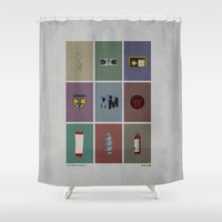 fringe Shower Curtains featuring Fringe (colors) by avoid peril