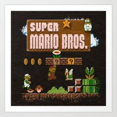Mario Super Bros Art Print