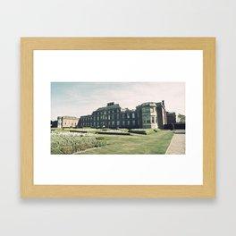 Manor Facade Framed Art Print