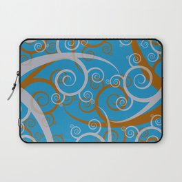 Blue Swirl Pattern Laptop Sleeve