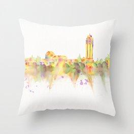 Colorful Stanford California Skyline - University Throw Pillow