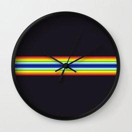 Retro 70s Vintage Style Stripes - Charma Wall Clock