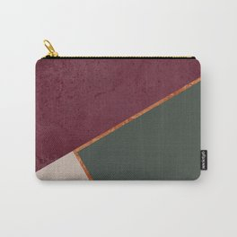 Burgundy Olive Green Gold and Nude Geometric Pattern #society6 #buyart Carry-All Pouch