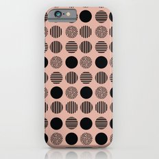 old pink circles Slim Case iPhone 6s