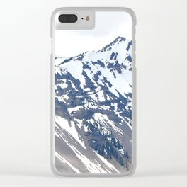 SNOW COVERED PEAKS AROUND CRATER LAKE Clear iPhone Case