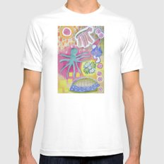 Blue Octopus and white Knight Mens Fitted Tee White 2X-LARGE