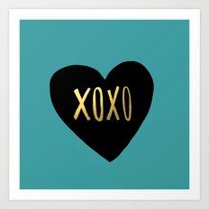 XOXO Heart Art Print