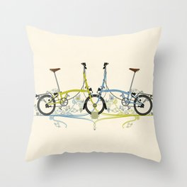 Brompton Bicycle cycling Throw Pillow