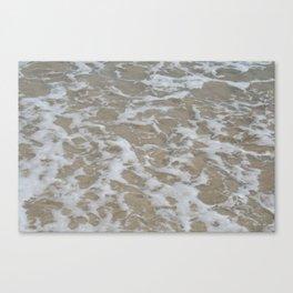 Foam of the ocean Canvas Print