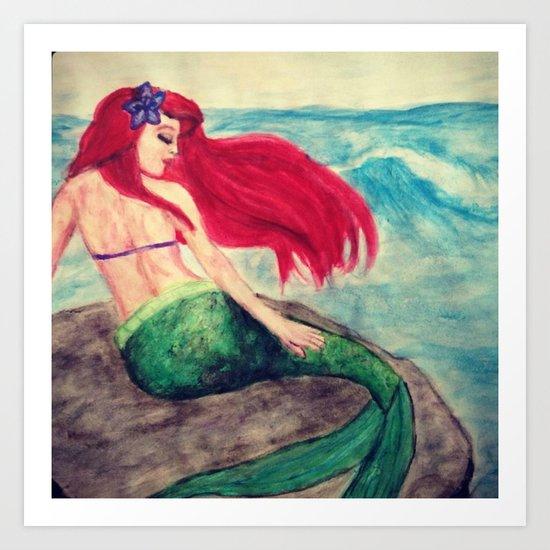 """Ariel """"On the Rocks"""" Art Print"""