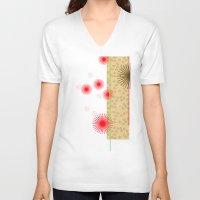 yoshi V-neck T-shirts featuring yoshi by fiona mcdonald
