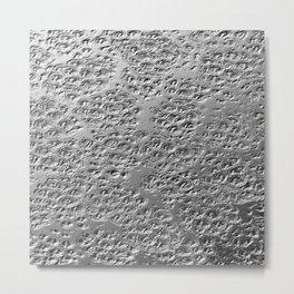 Damaged silver Metal Print