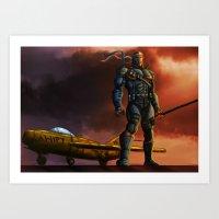 deathstroke Art Prints featuring Deathstroke by Dushan Silva