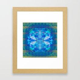 Feng Shui Water Mandala Portal Framed Art Print