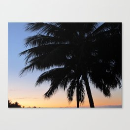 Palm Tree in front of Sunset  Canvas Print