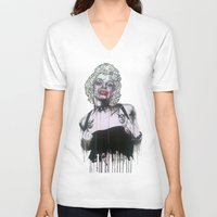 celebrity V-neck T-shirts featuring Celebrity by R.A.Carrie