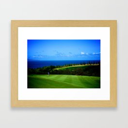 Hawaii, Maui - Swing Harder (Golf) Framed Art Print